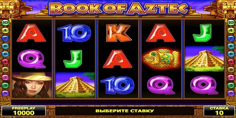 Book of Aztec slot machines online.