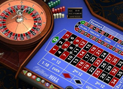 Online roulette in the casino.