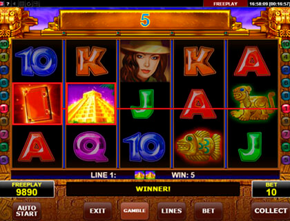 Book of Aztec slot machine for free play.